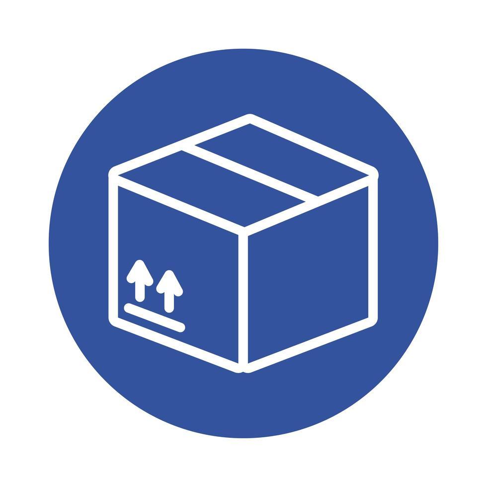 estilo de bloco de serviço de entrega de caixa vetor