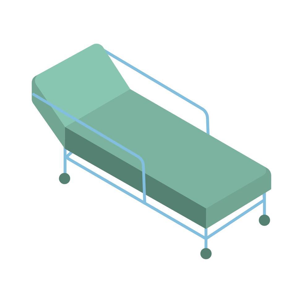 ícone de estilo plano de maca médica vetor