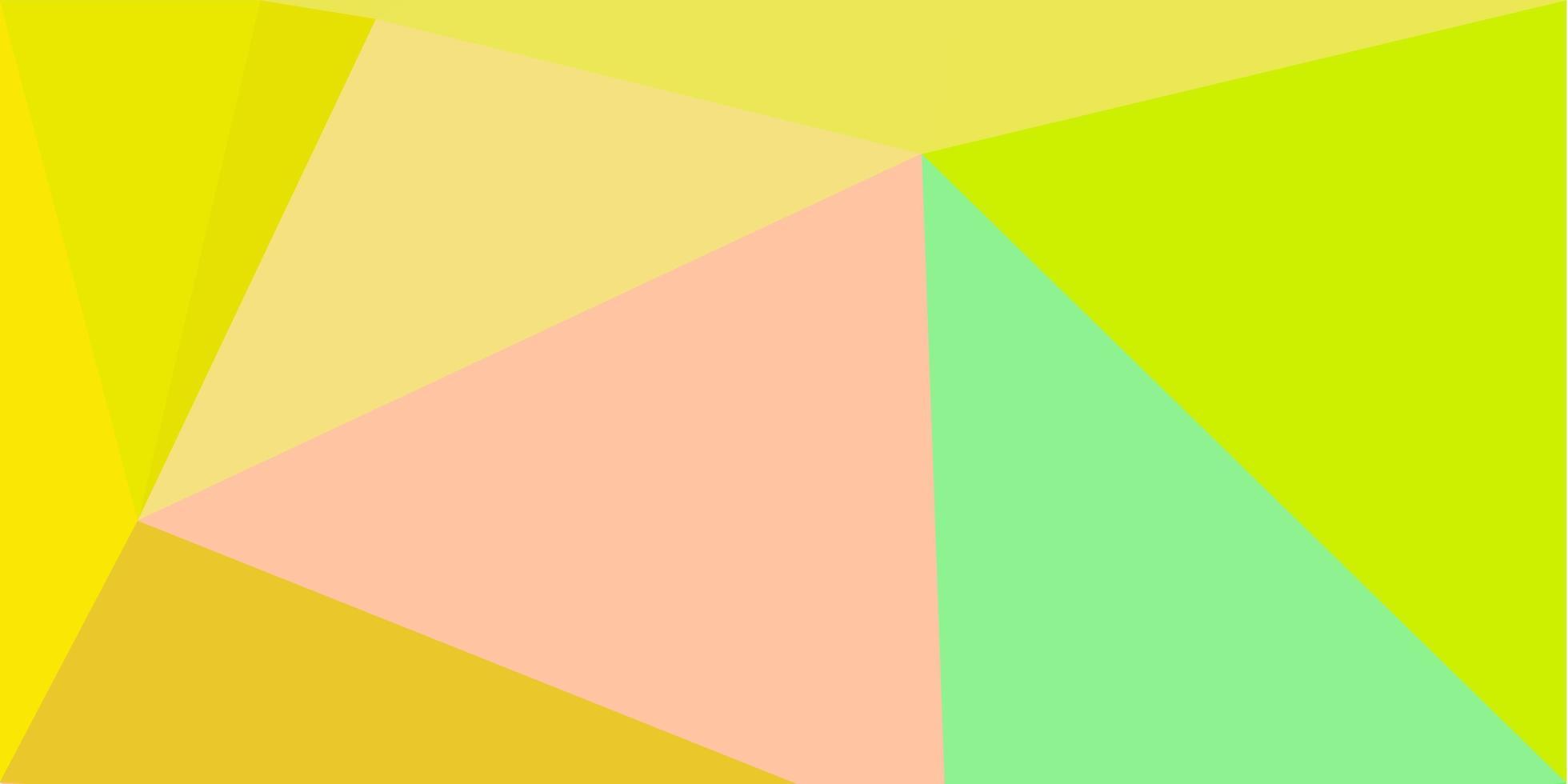 fundo poligonal do vetor verde-claro e vermelho.