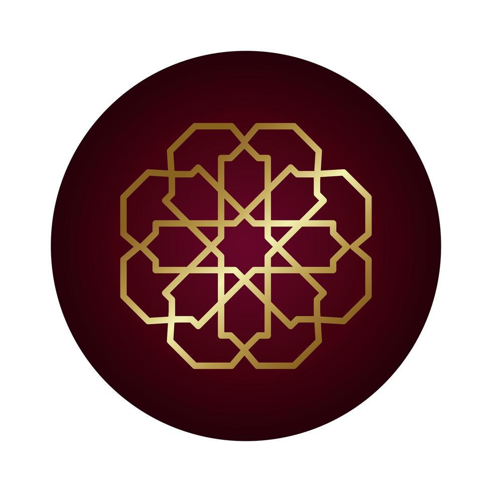 estilo gradiente de bloco de figura decorativa ramadan kareem vetor