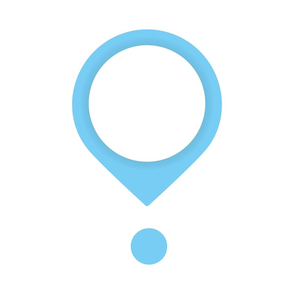 ícone de marca de localização de ponteiro de pino vetor