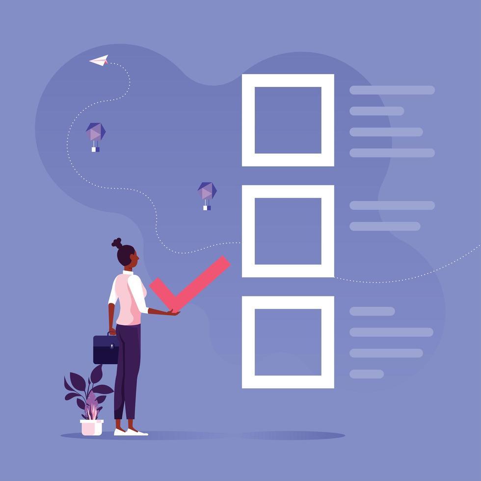 faça a escolha certa para obter soluções de negócios e conceito de feedback vetor