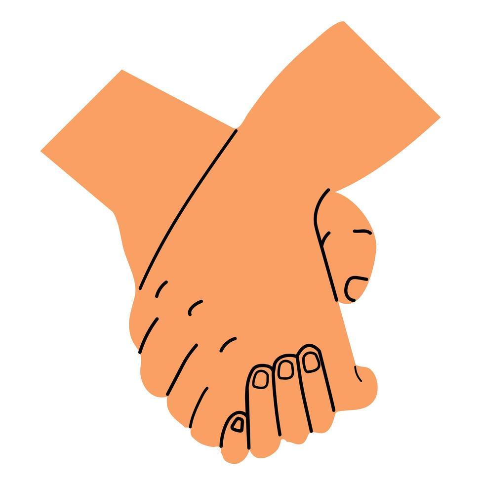 casal de mãos dadas vetor