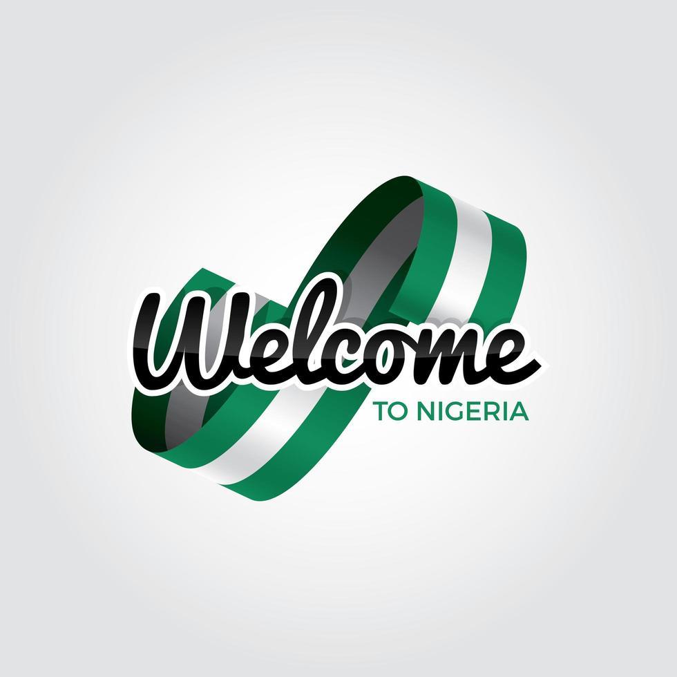bem vindo à Nigéria vetor