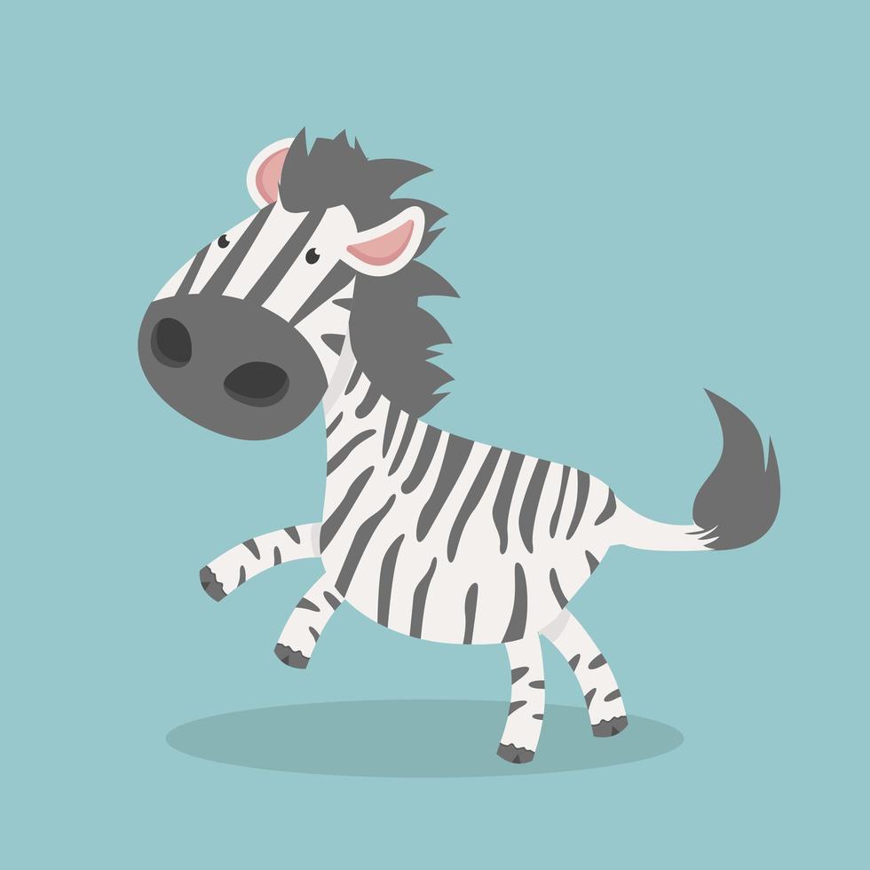 desenho de vetor zebra fofo