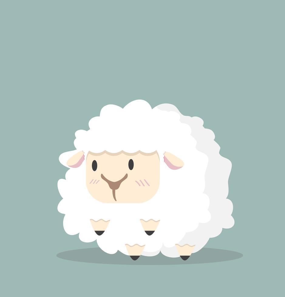 vetor de ovelhinhas brancas fofas