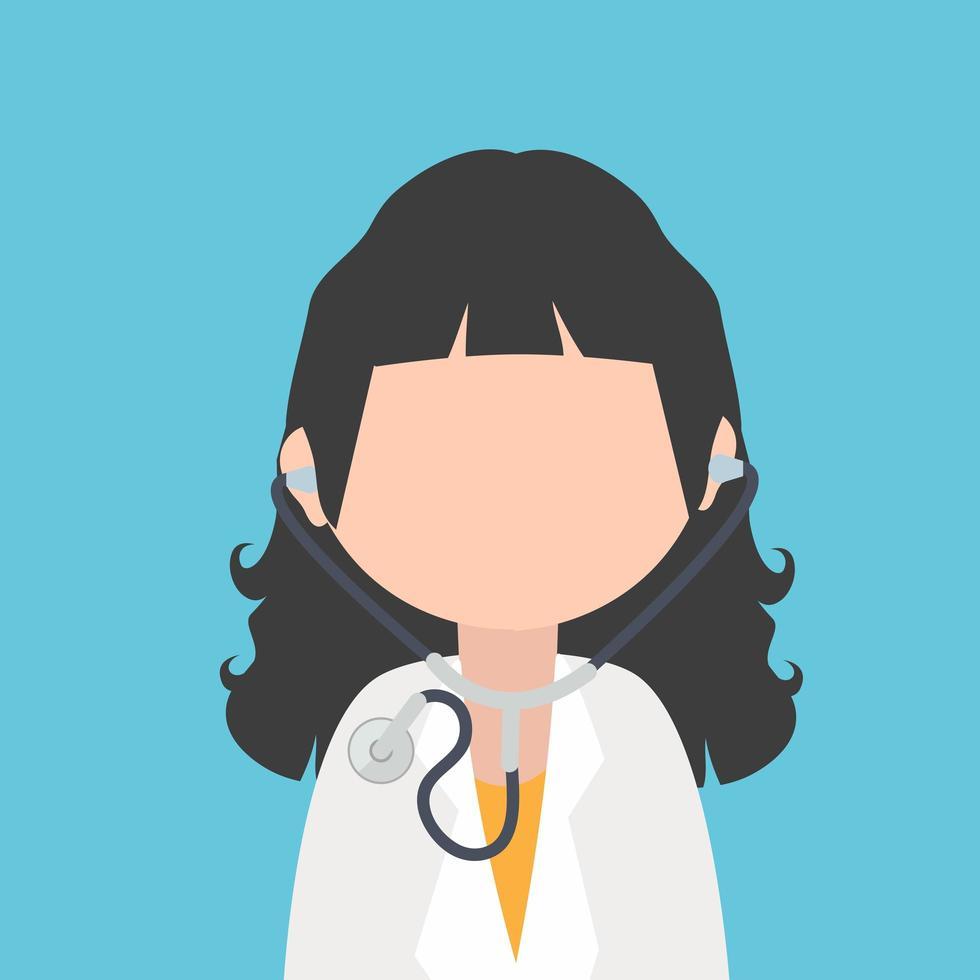 personagem de desenho animado médico com estetoscópio vetor