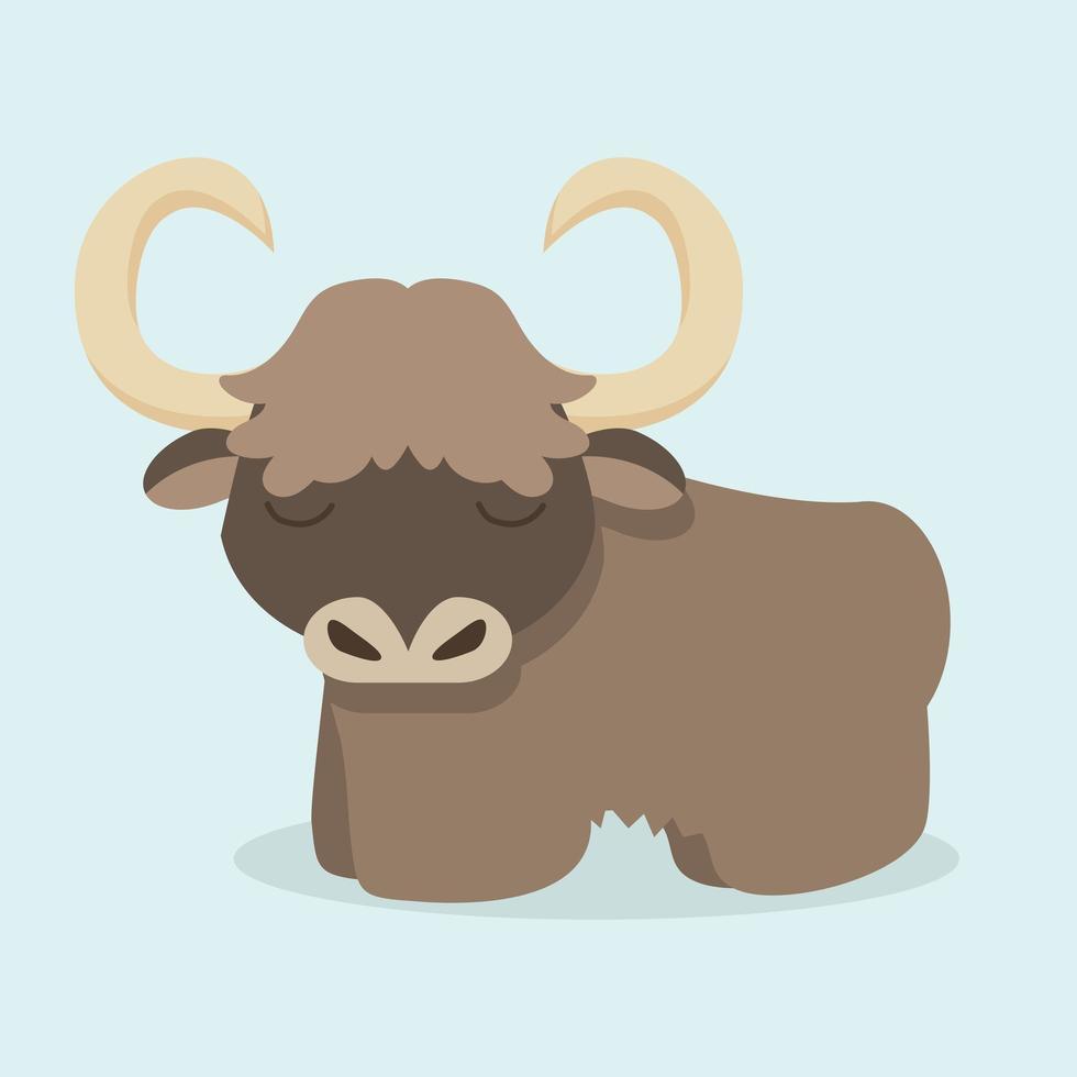 vetor de desenho de bisão fofo