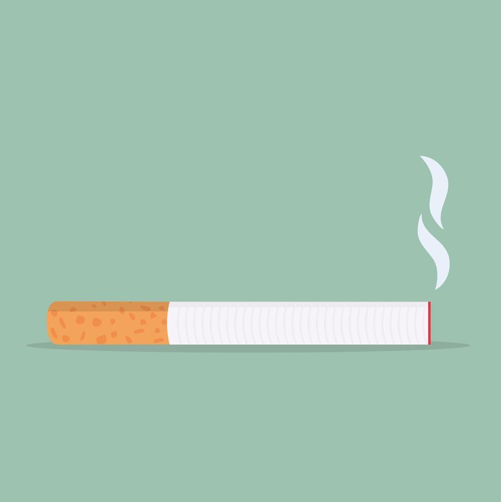conceito de linha plana de ícone de cigarro vetor