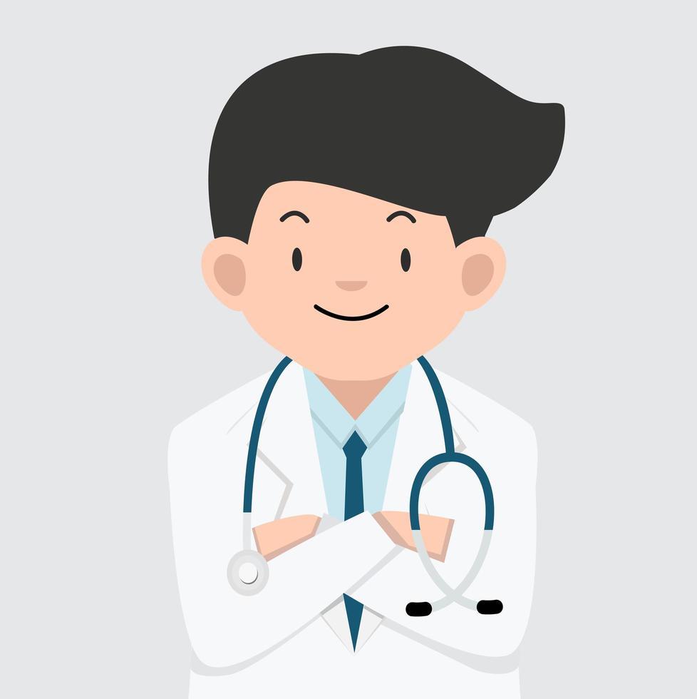 vetor de design de desenho animado médico