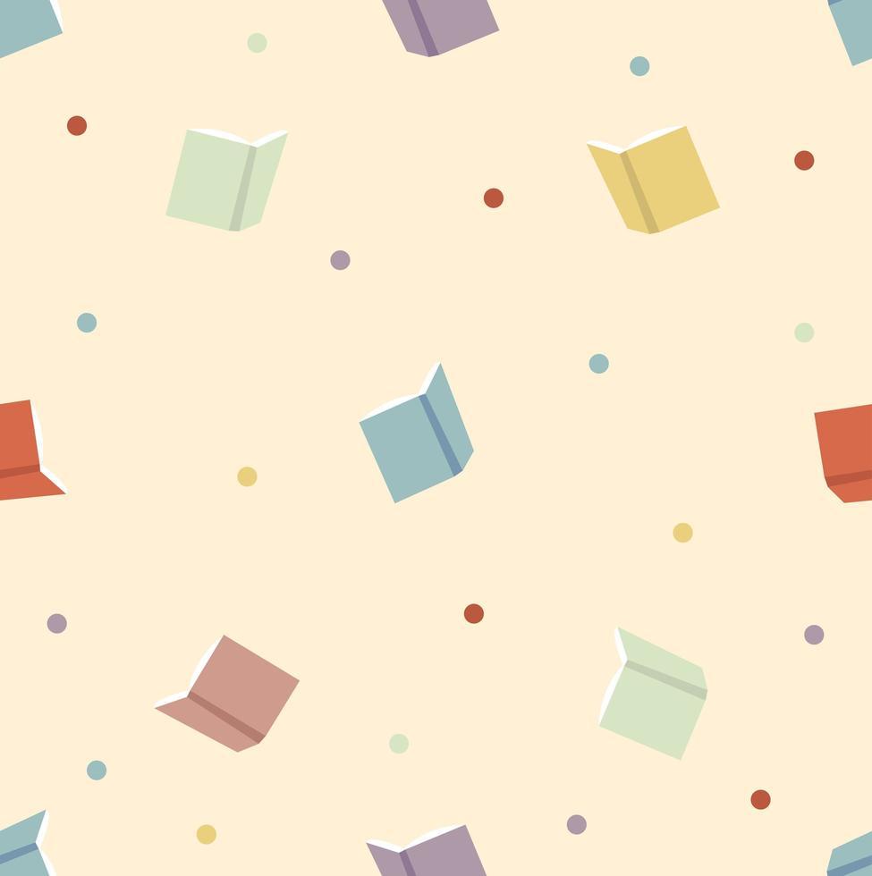 livro colorido com padrão sem emenda de pontos vetor