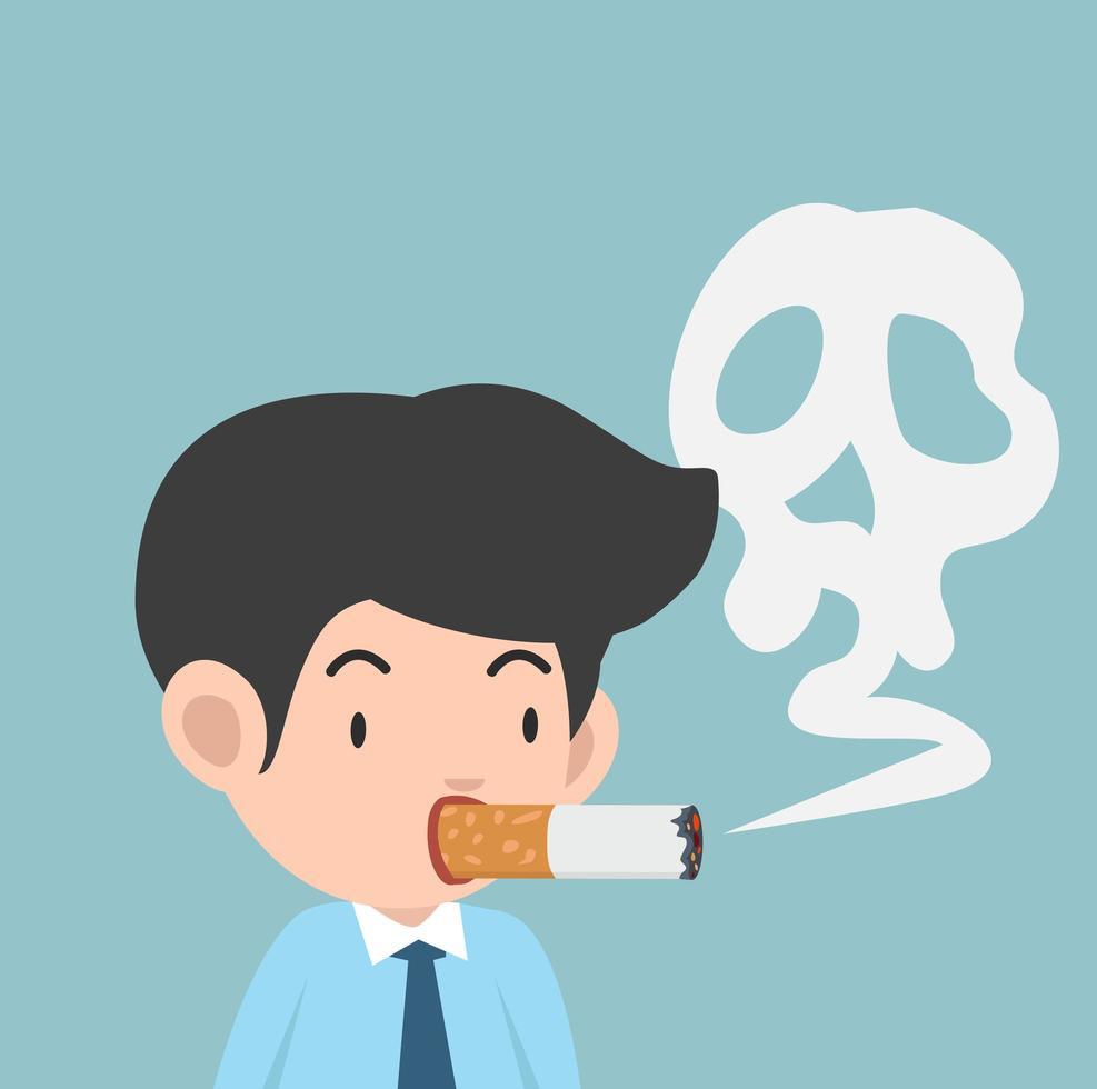 ilustração vetorial empresário fumando um cigarro vetor