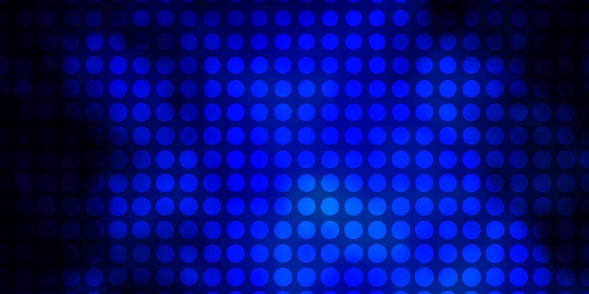 modelo de vetor azul escuro com círculos