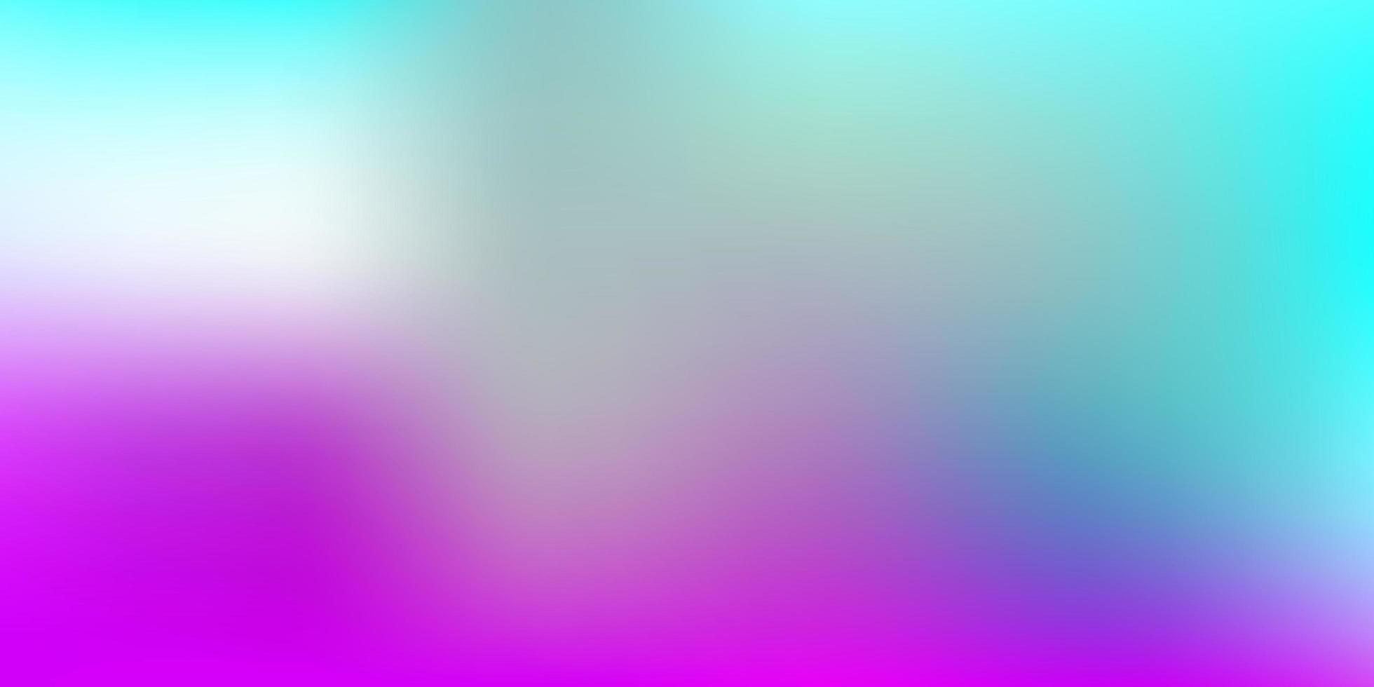 layout de borrão gradiente de vetor rosa claro e azul.