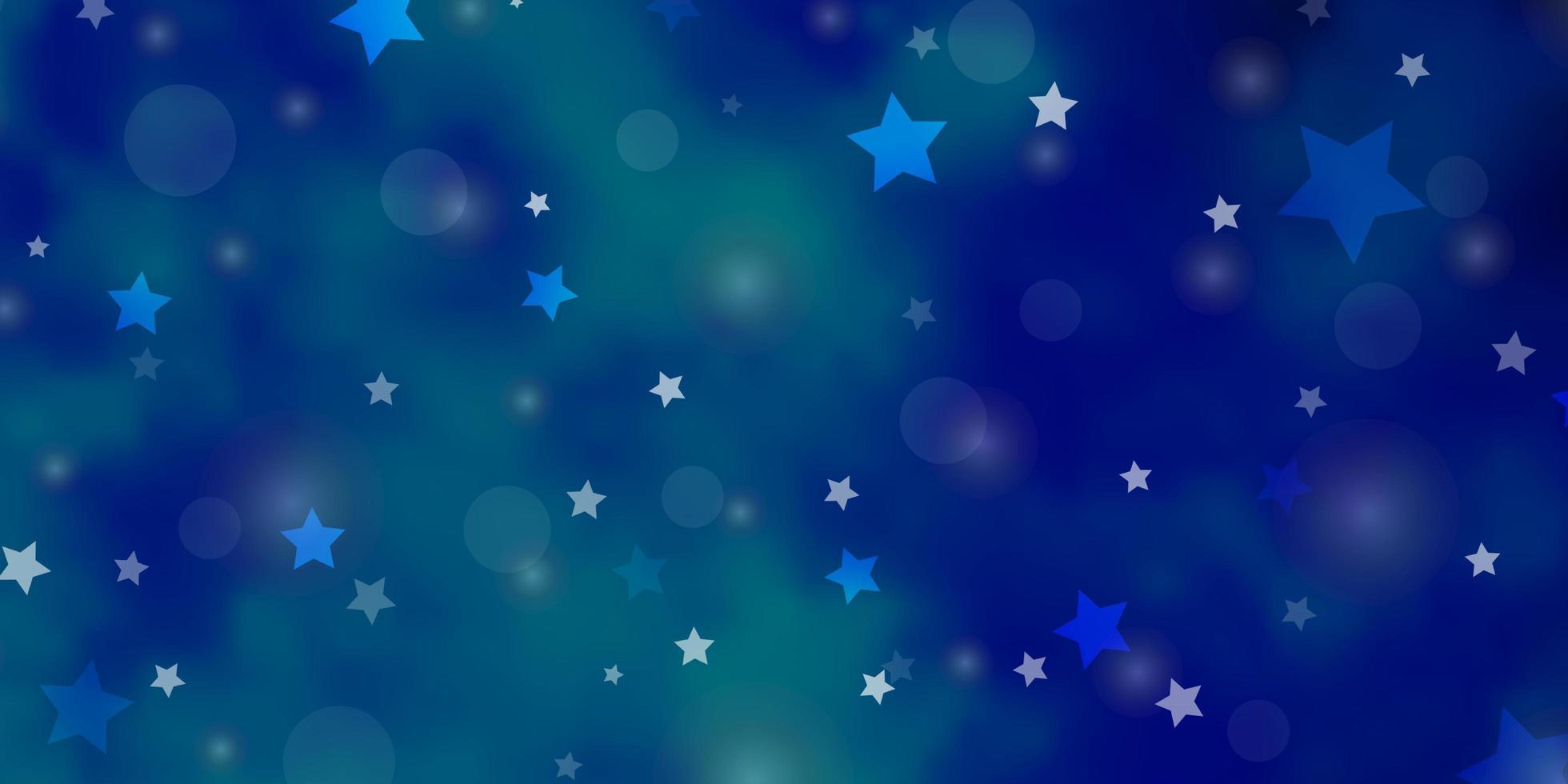 textura vector azul claro com círculos, estrelas.