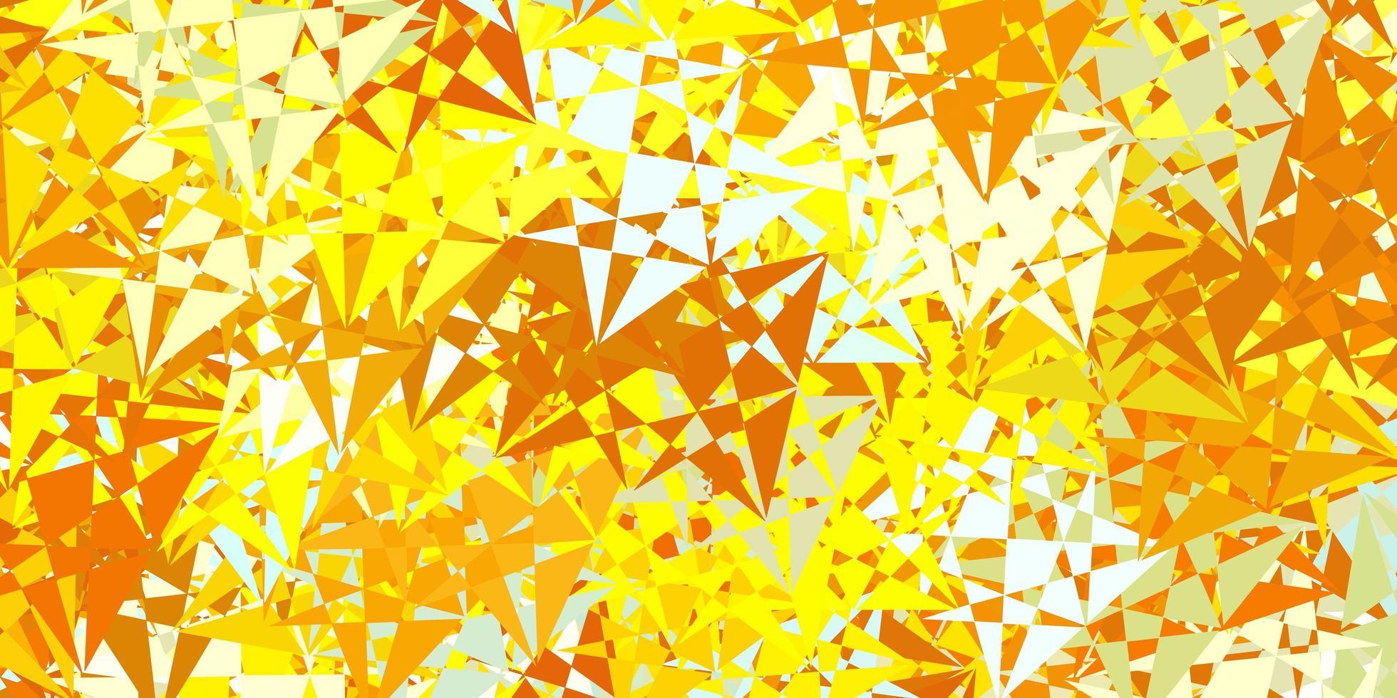 modelo de vetor azul claro e amarelo com formas de triângulo.