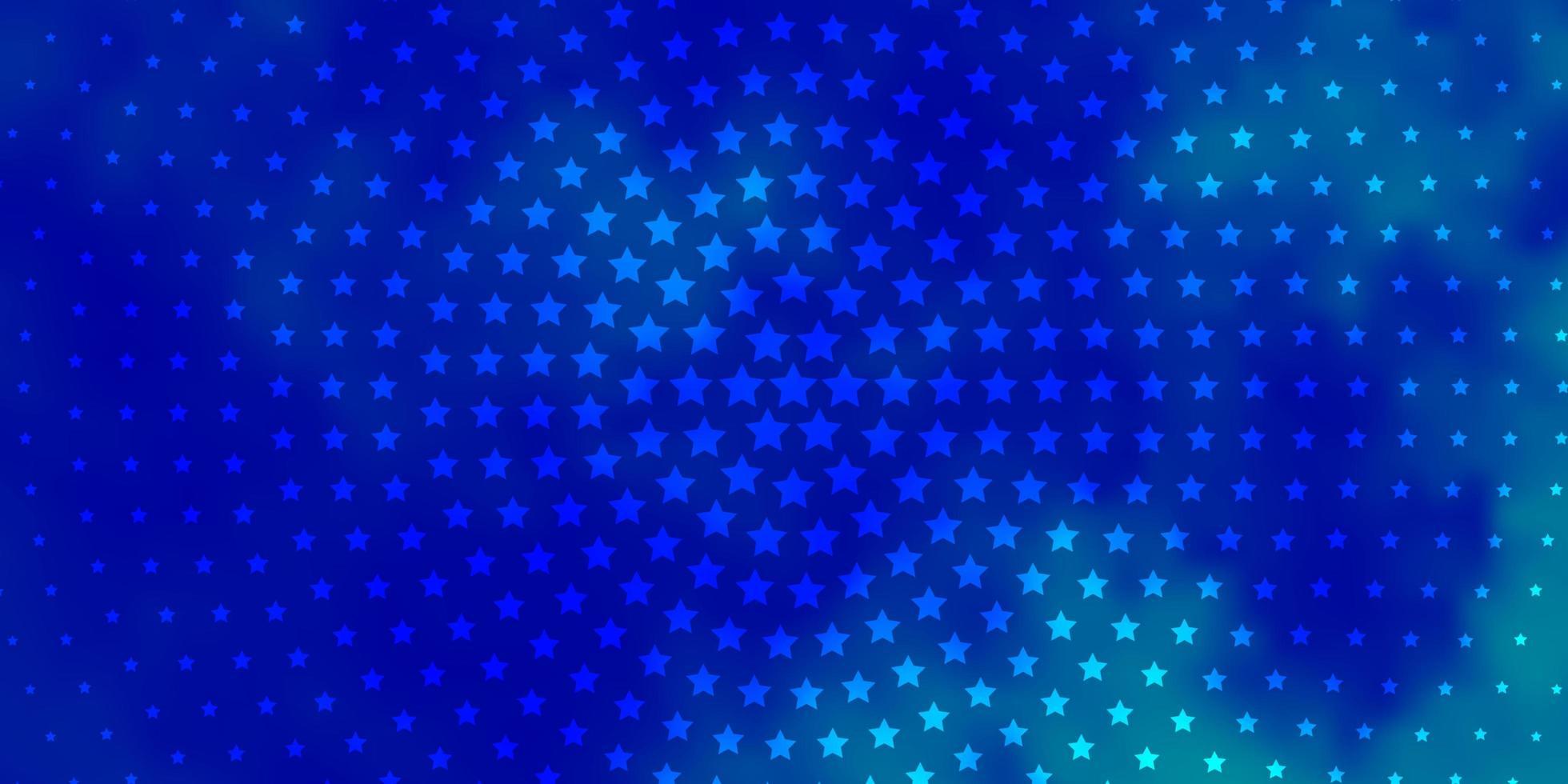 modelo de vetor azul claro com estrelas de néon