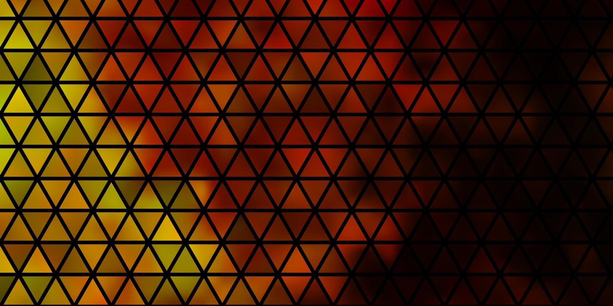 padrão de vetor amarelo escuro com estilo poligonal.