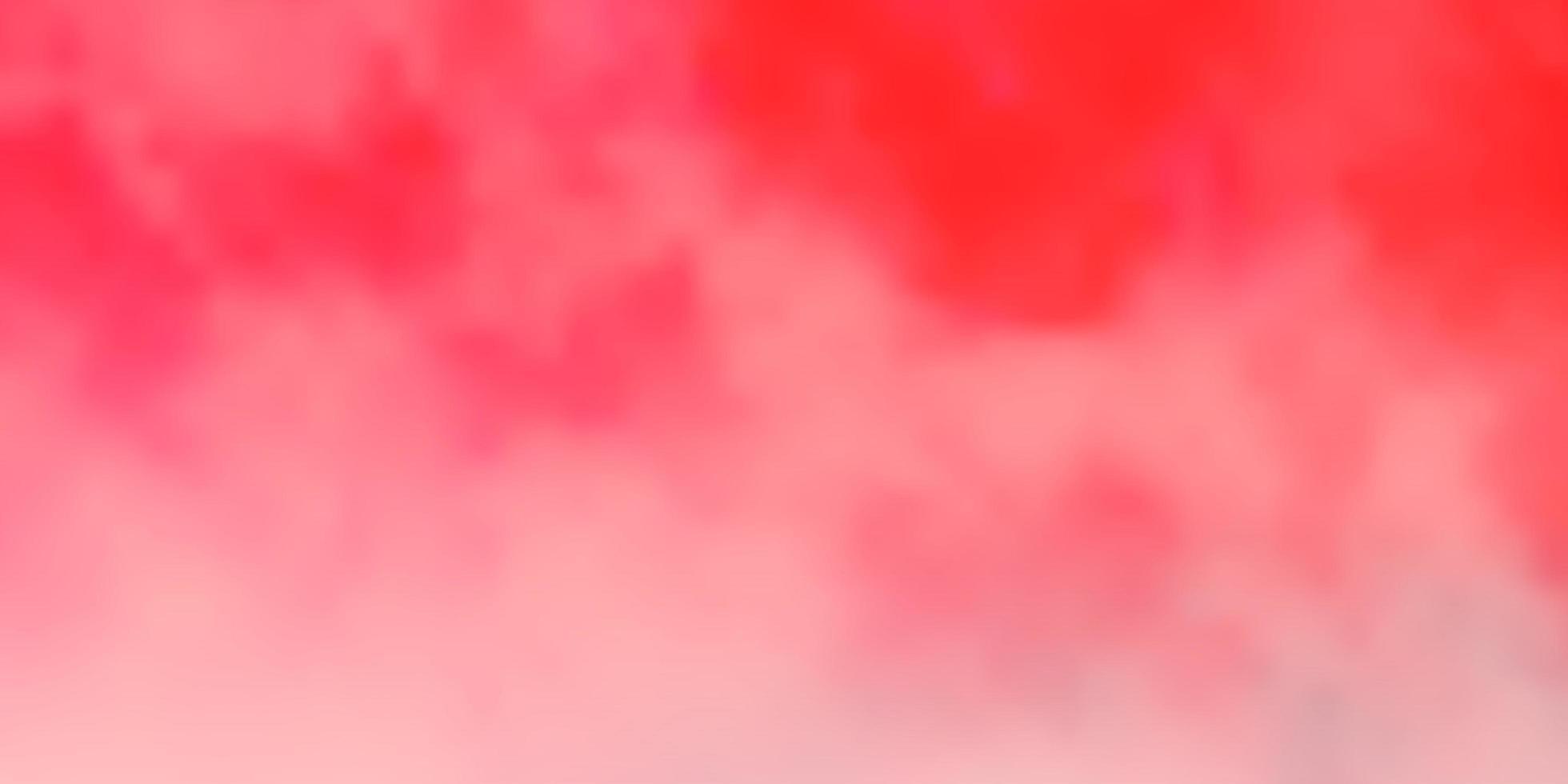 pano de fundo vector vermelho claro com cúmulos.