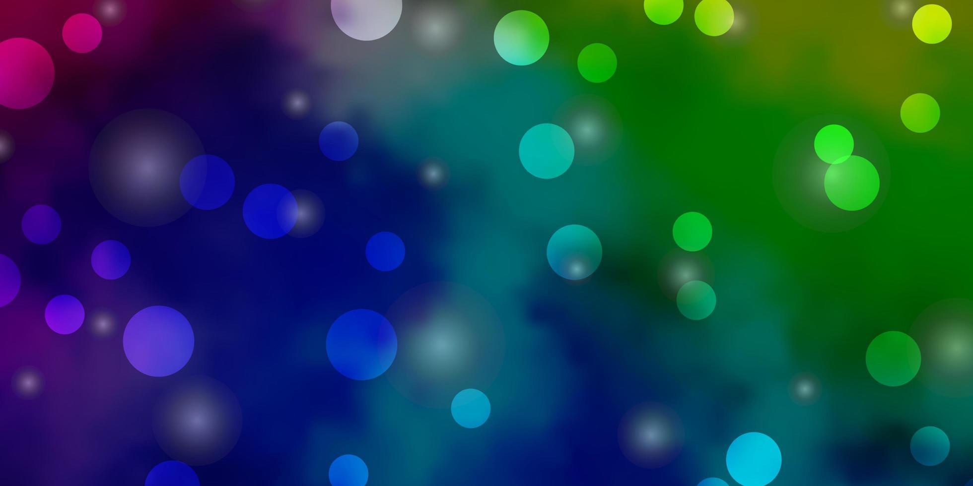 luz padrão multicolorido de vetor com círculos, estrelas.