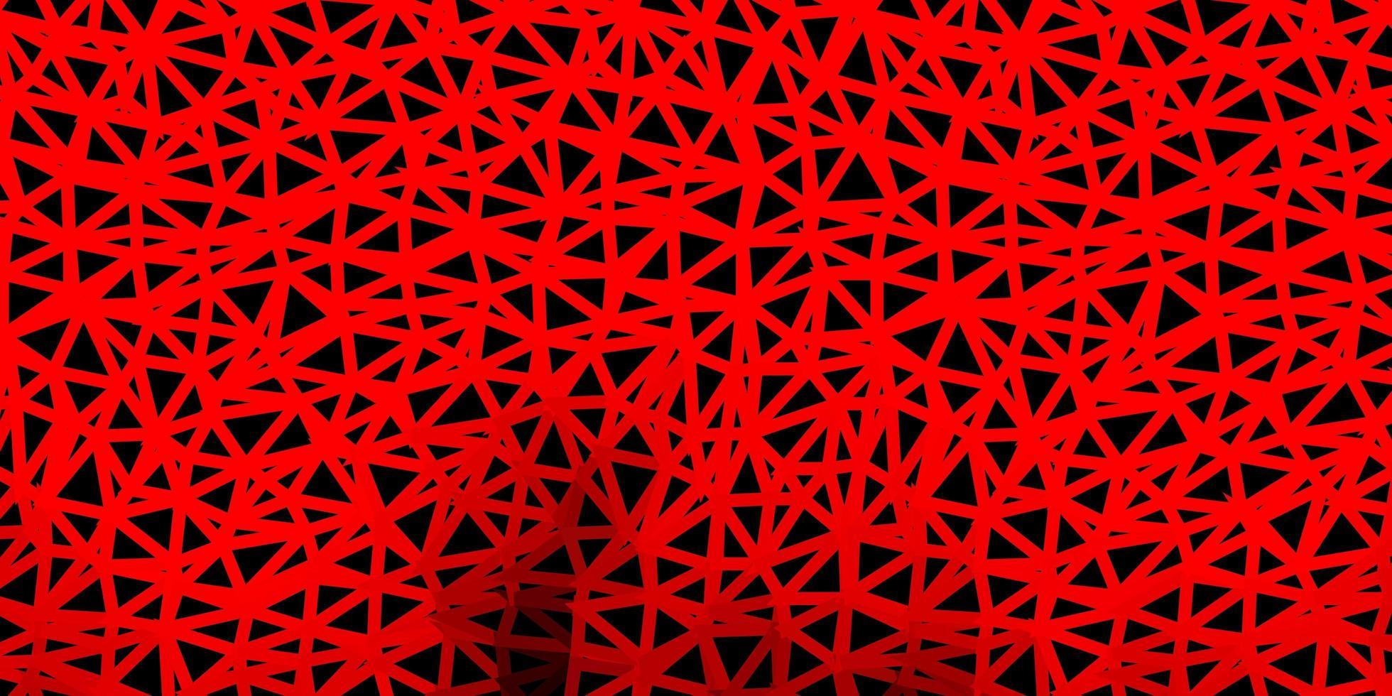 cenário poligonal de vetor vermelho escuro.