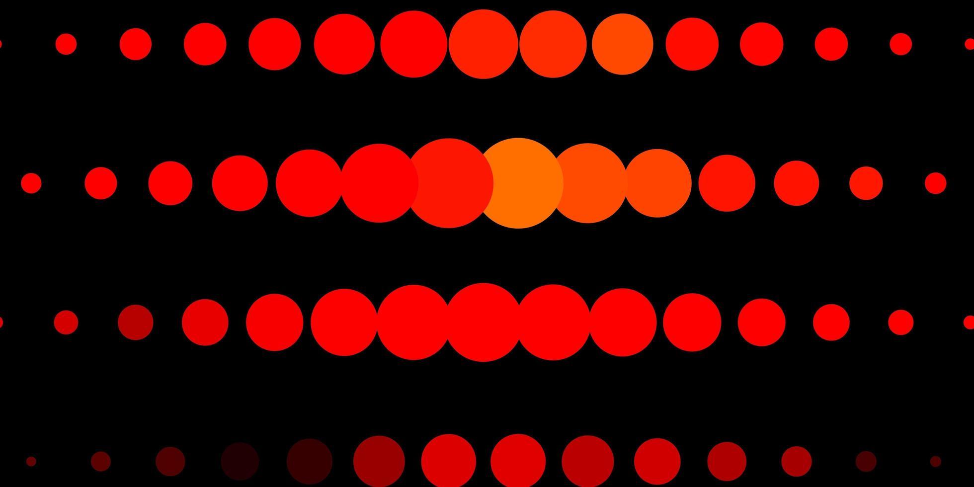 fundo vector vermelho e amarelo escuro com bolhas.