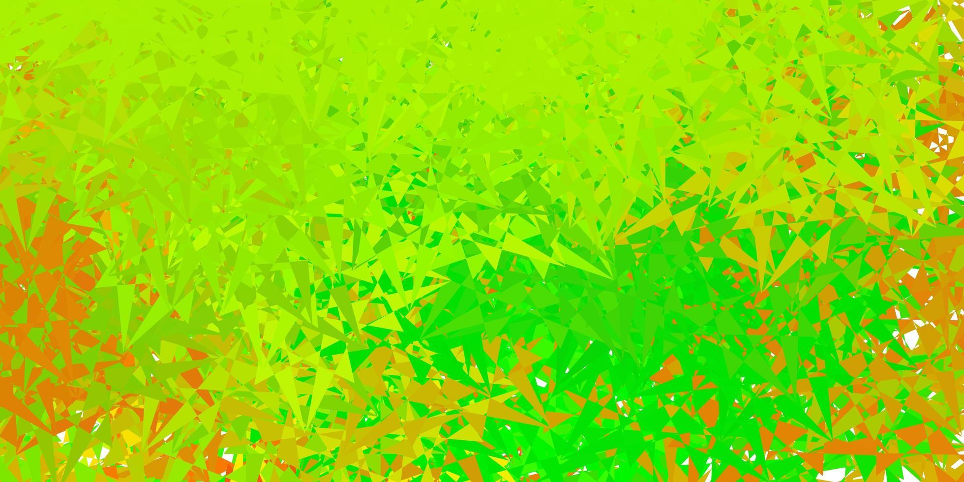padrão de vetor verde e amarelo escuro com formas poligonais.