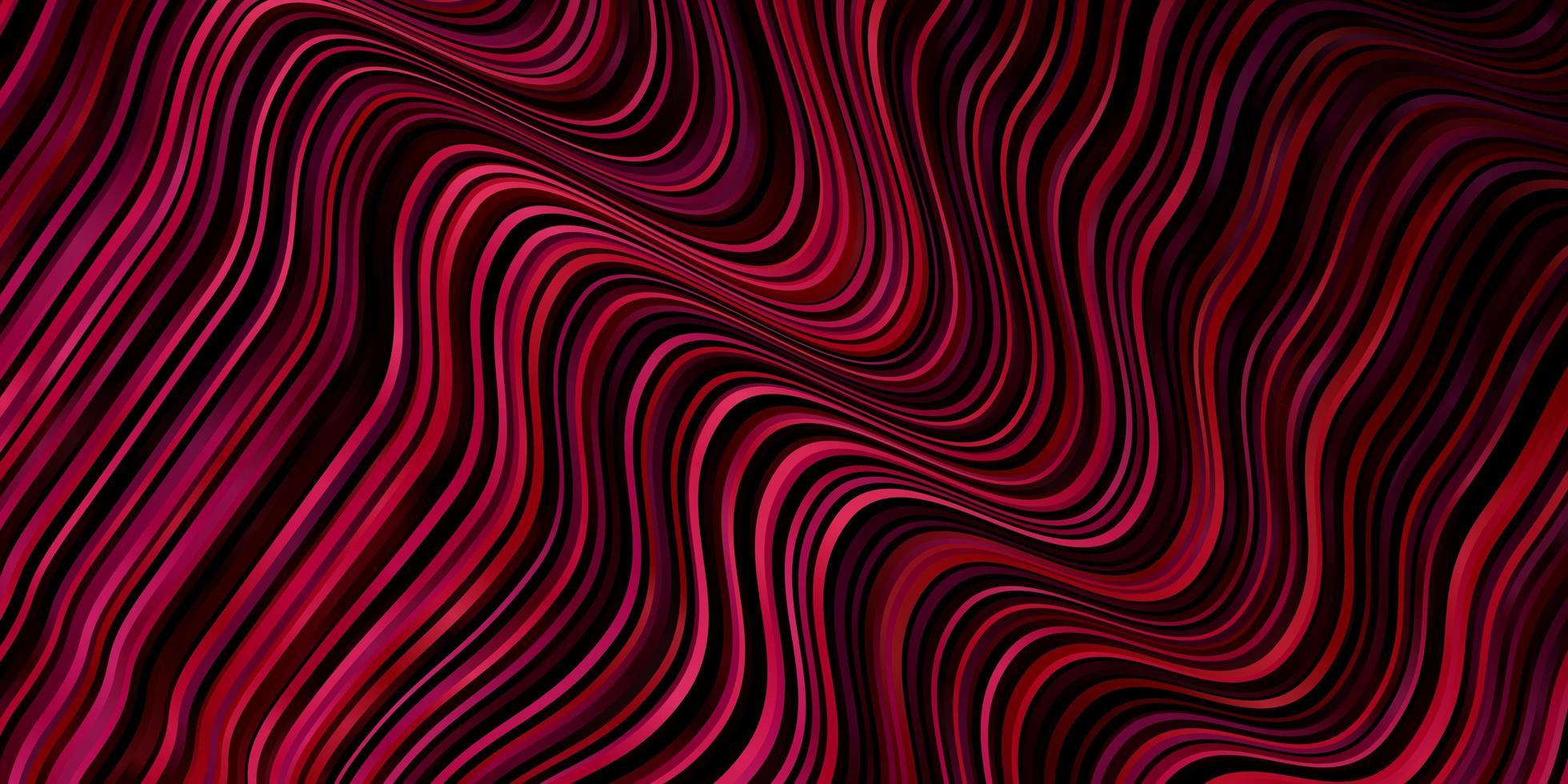 pano de fundo rosa claro, vermelho vector com curvas.