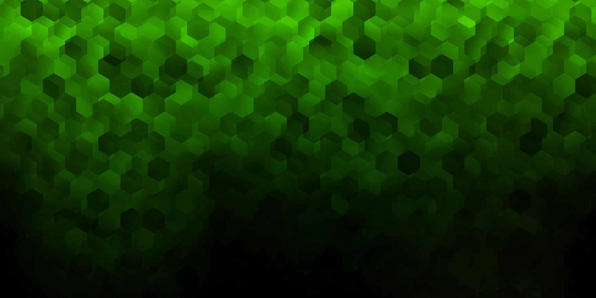 modelo de vetor verde escuro em estilo hexagonal.