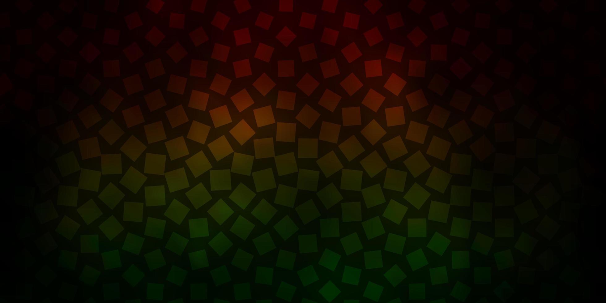 padrão de vetor verde e vermelho escuro em estilo quadrado.