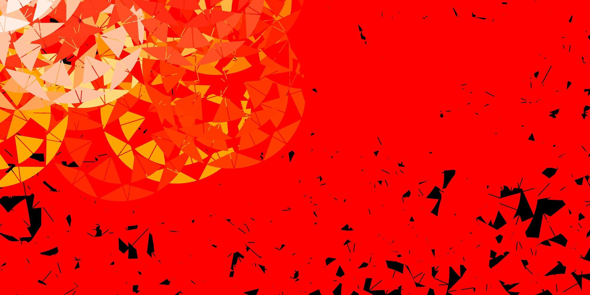 fundo vector vermelho e amarelo claro com triângulos.