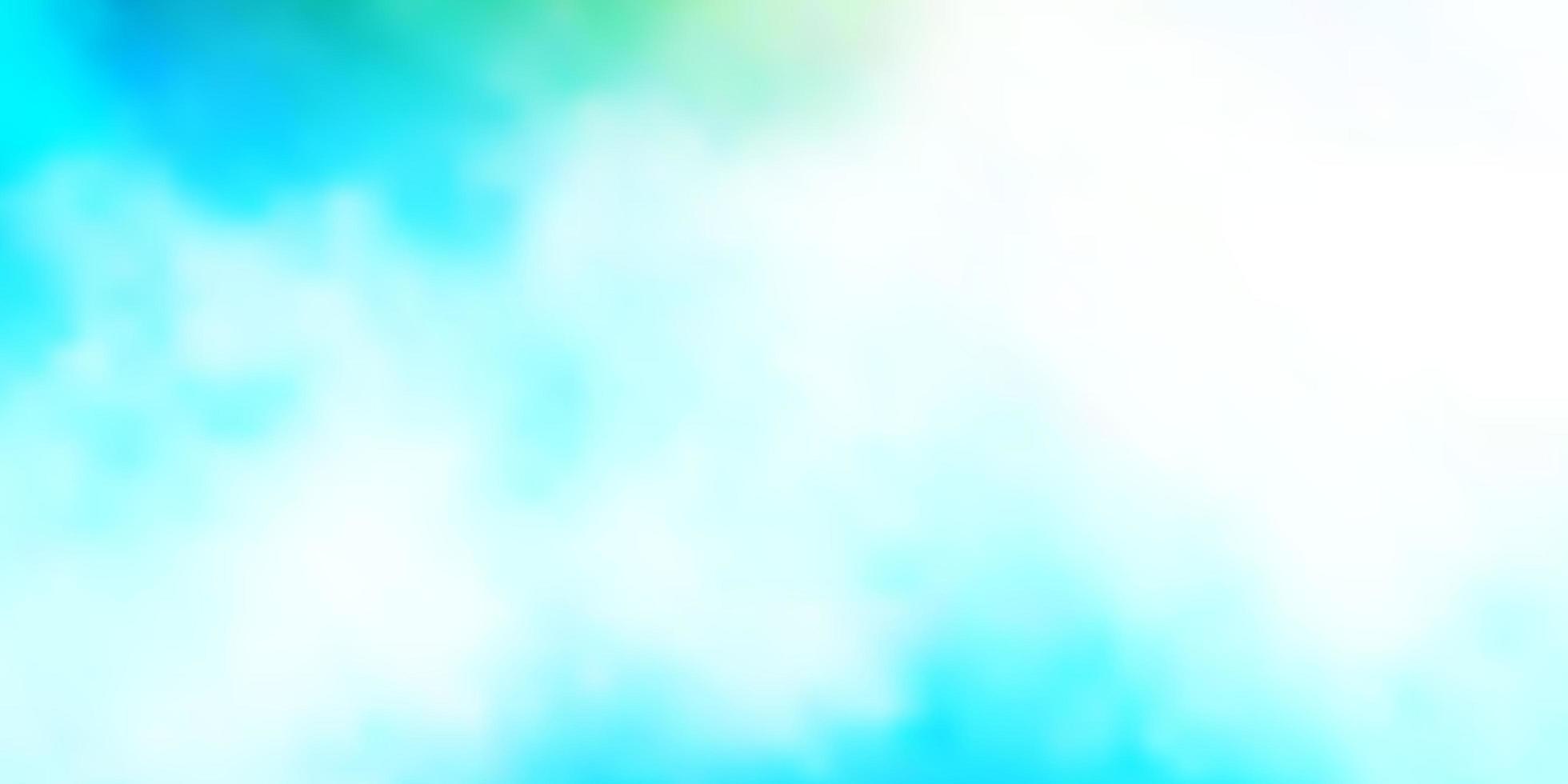fundo azul claro, verde do vetor com nuvens.