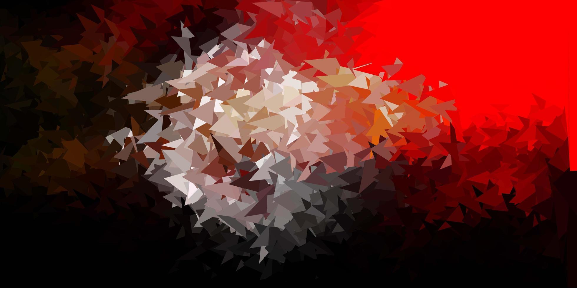 papel de parede de polígono gradiente de vetor laranja escuro.