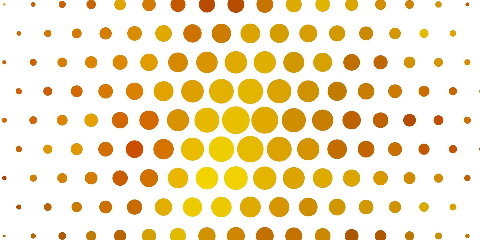 pano de fundo de vetor verde e amarelo claro com círculos.