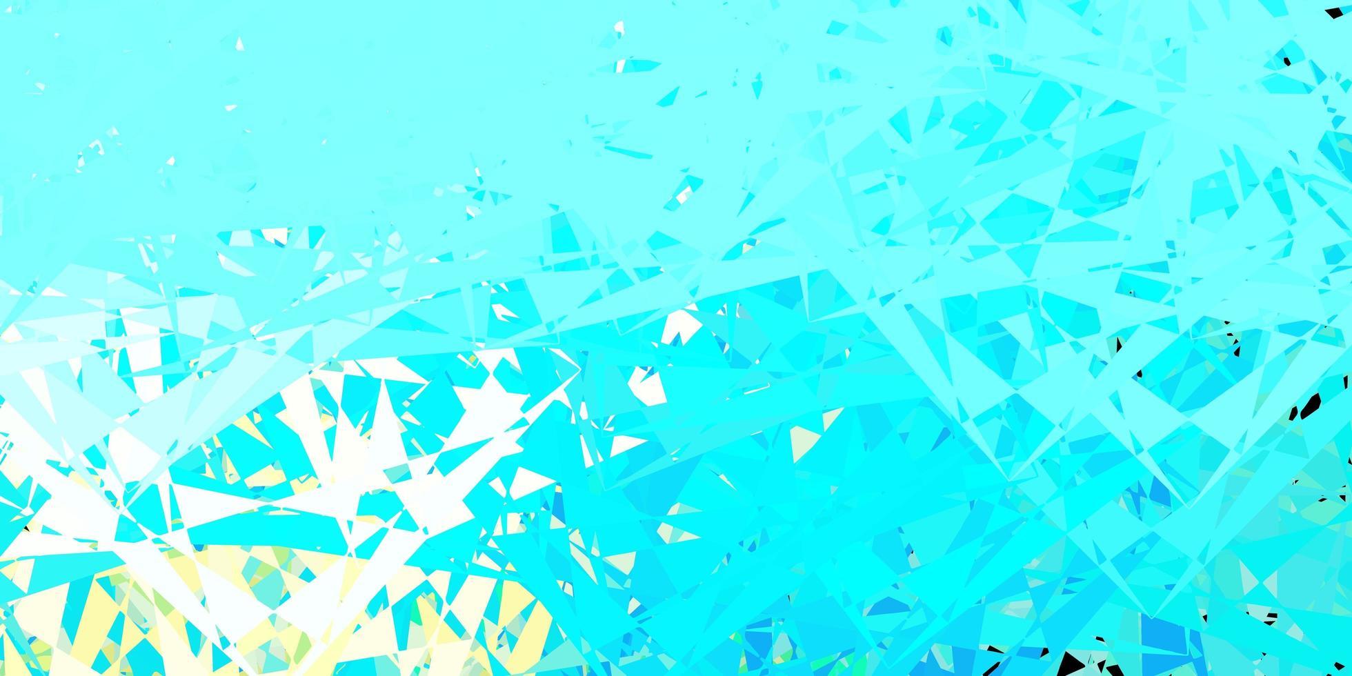 de fundo vector azul e amarelo claro com formas poligonais.