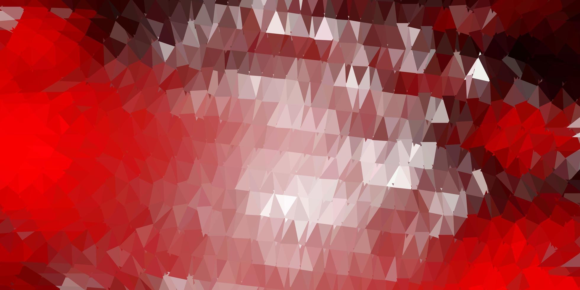 layout de polígono gradiente de vetor vermelho escuro.