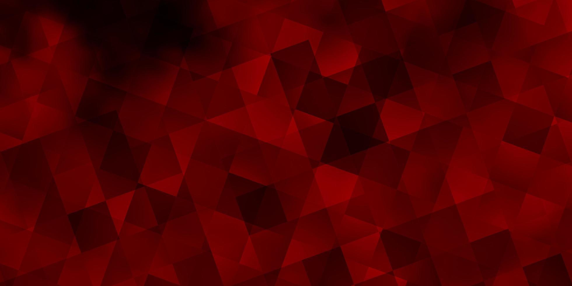 textura vector laranja claro com estilo poli com cubos.
