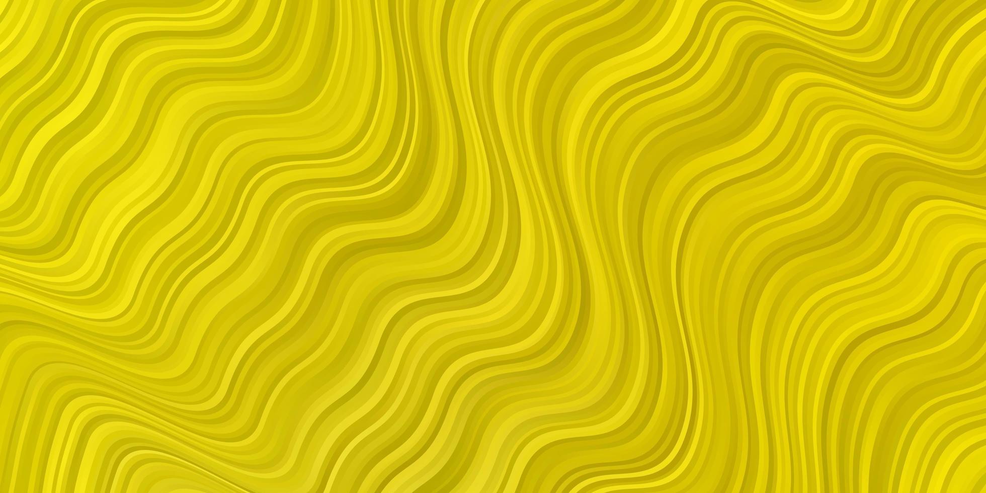textura de vetor amarelo claro com curvas.