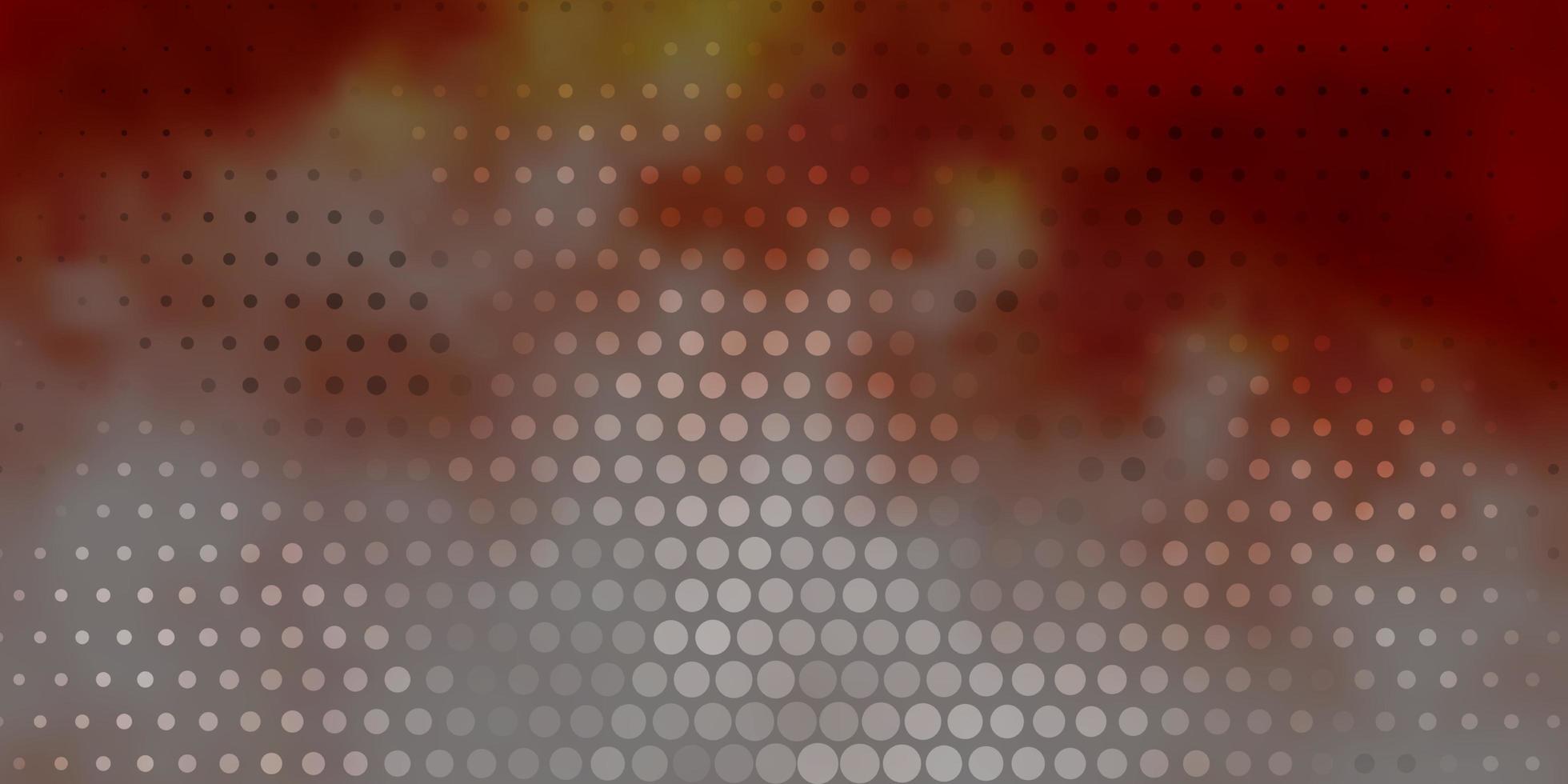 layout de vetor vermelho claro com formas de círculo.