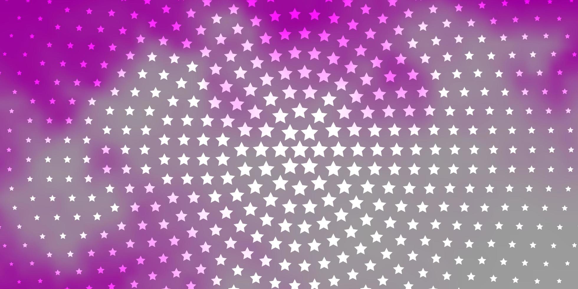 fundo vector rosa claro com estrelas pequenas e grandes.