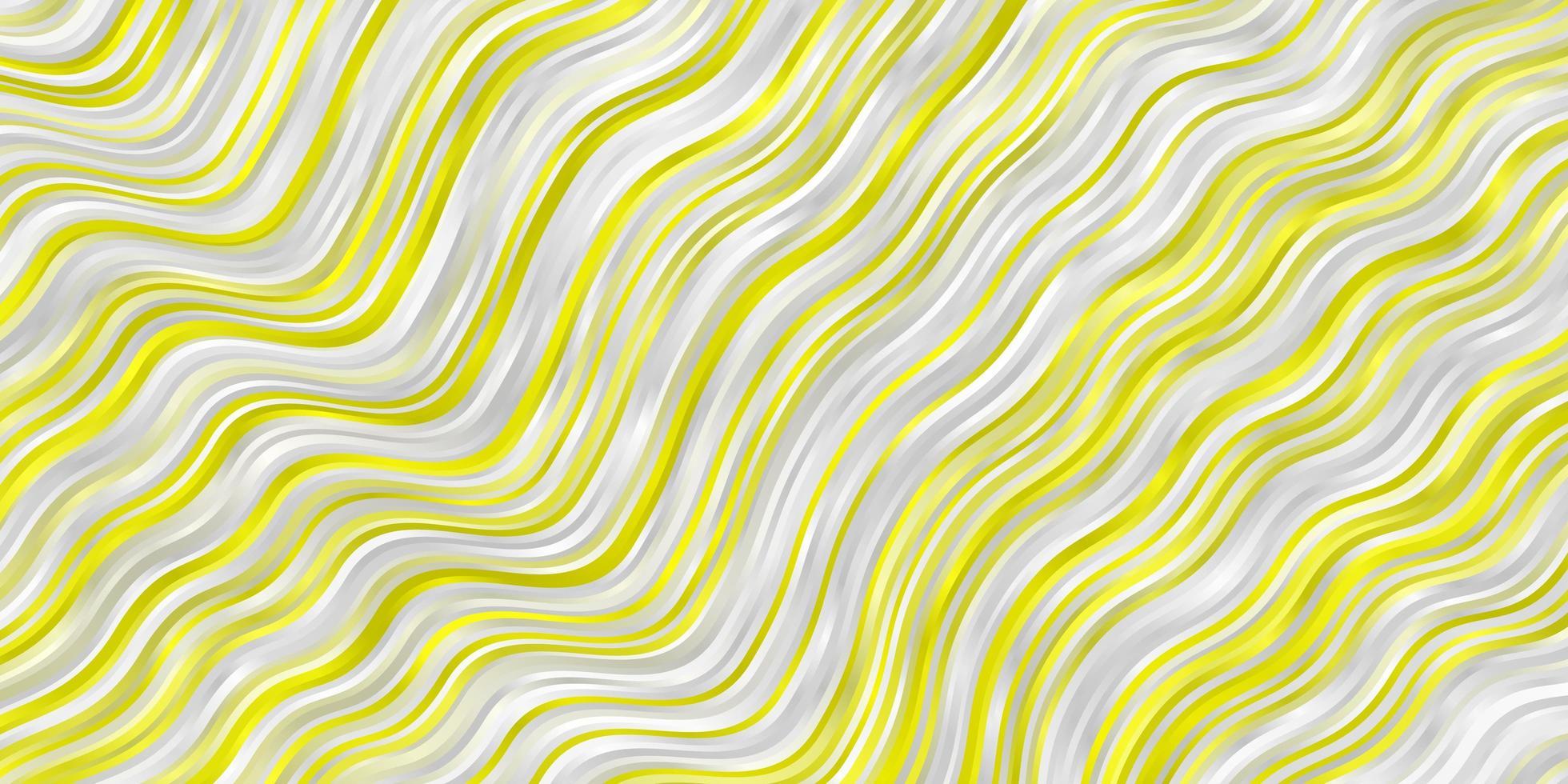 pano de fundo vector amarelo claro com curvas.