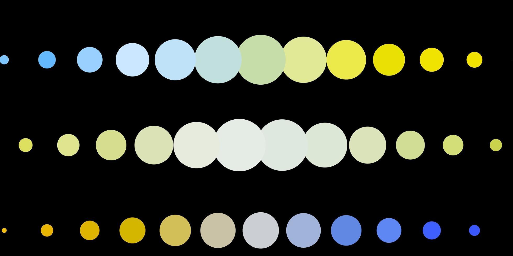fundo vector azul escuro e amarelo com bolhas.