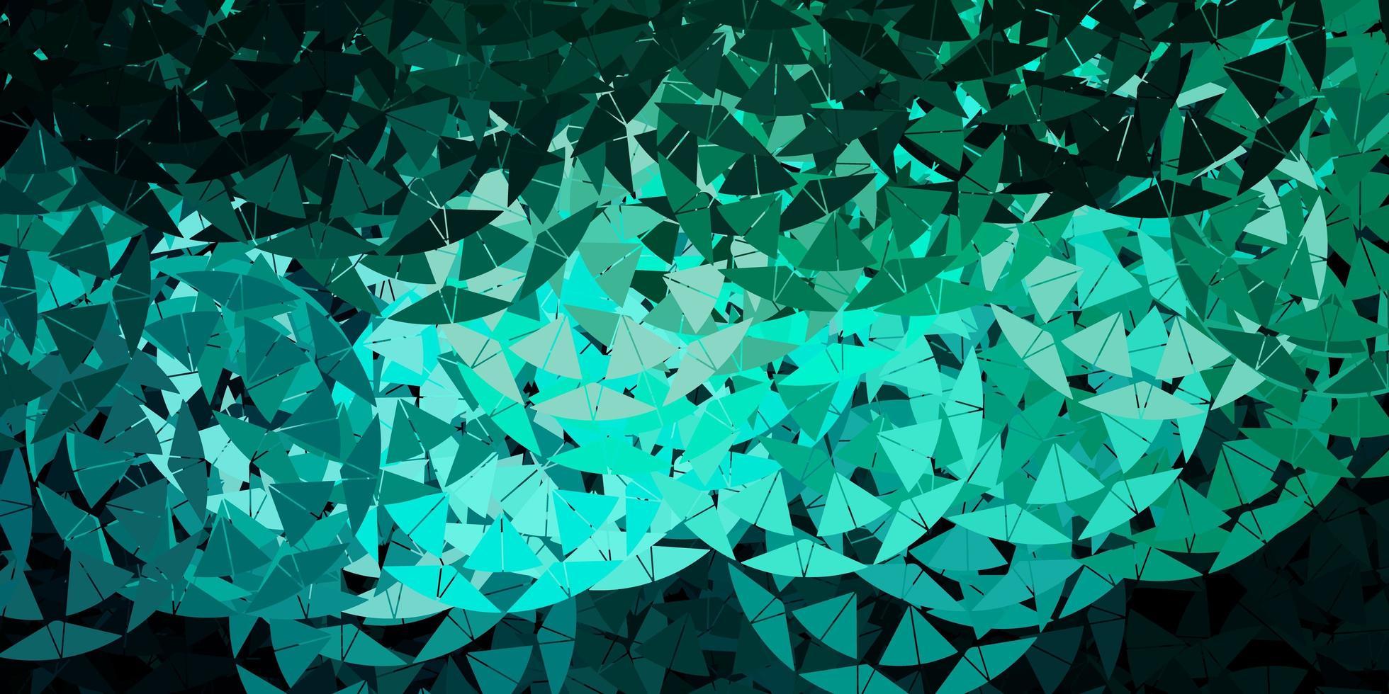 modelo de vetor verde claro com formas de triângulo.