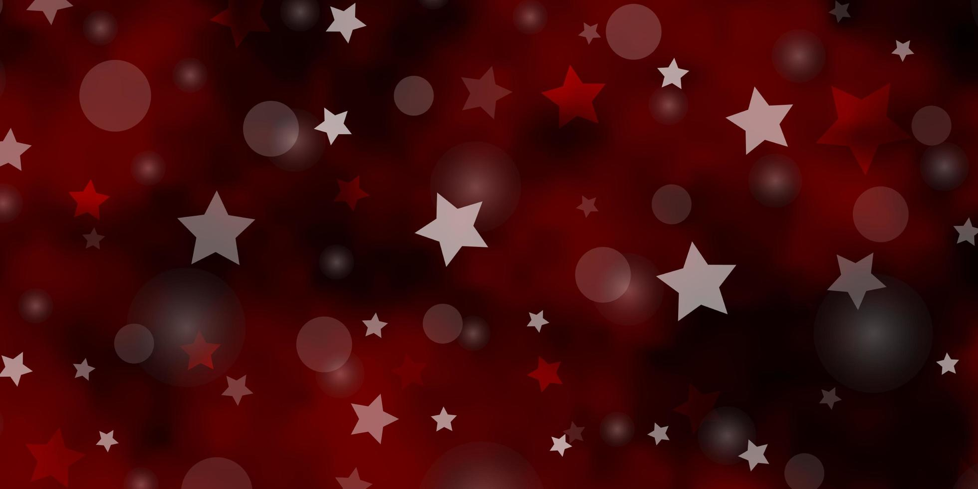 layout de vetor de laranja escuro com círculos, estrelas.