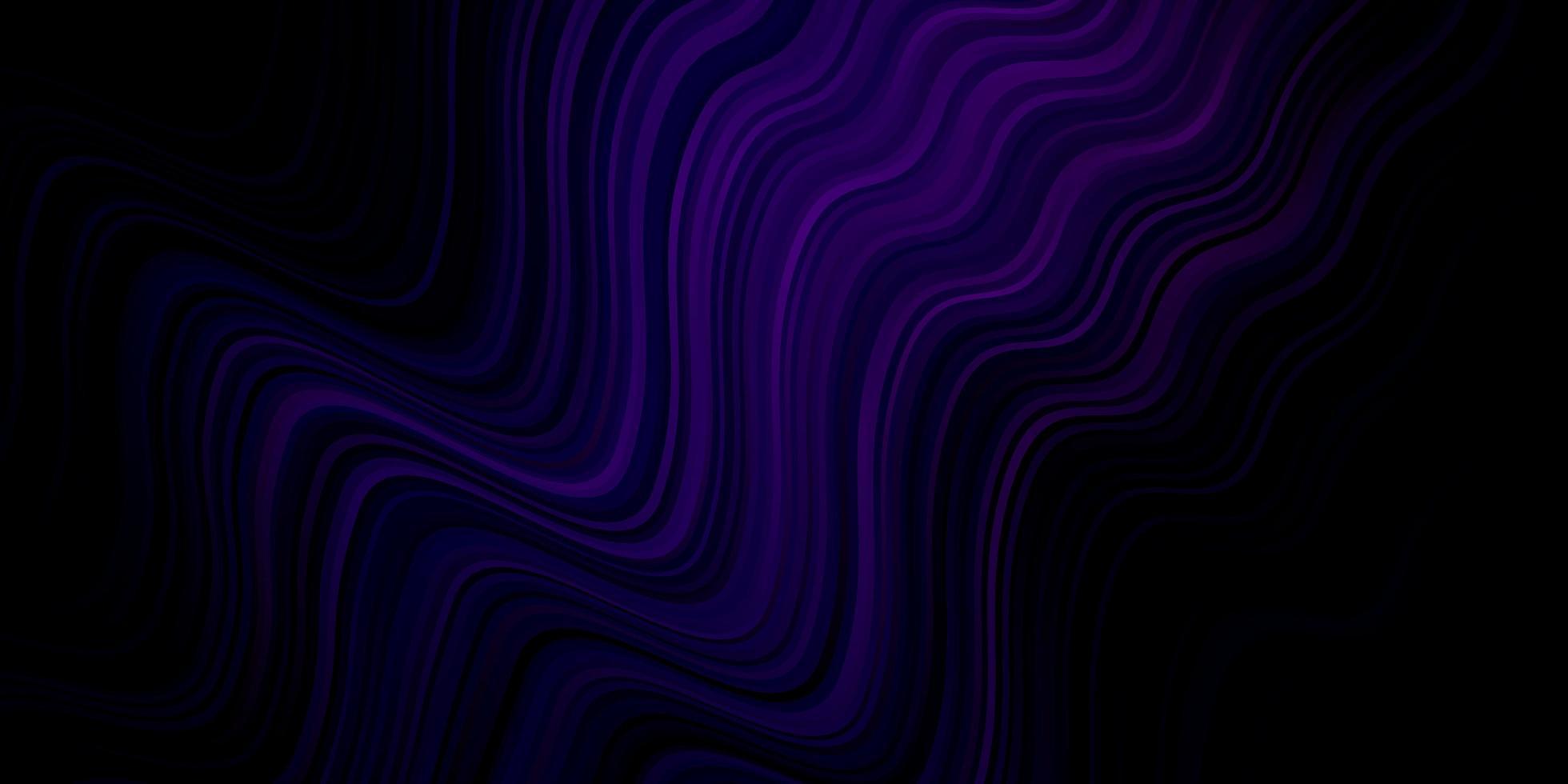 textura vector roxo escuro com curvas.