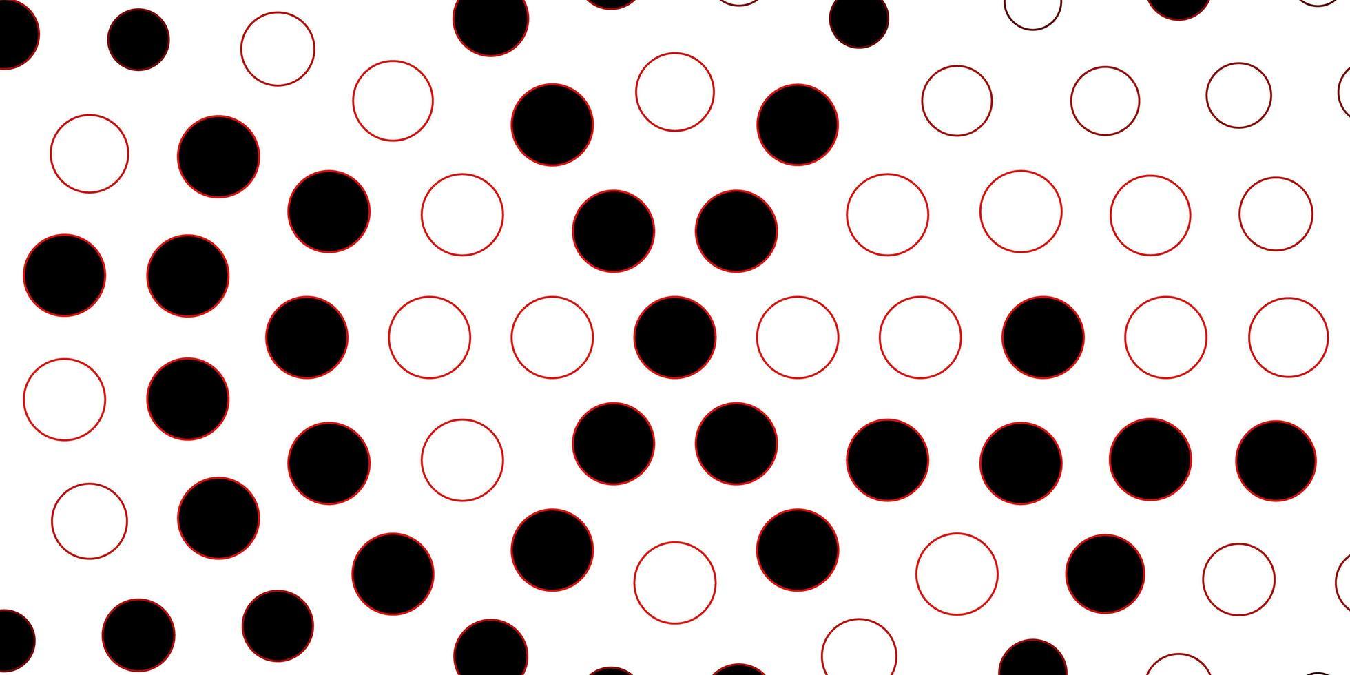 fundo vector vermelho escuro com círculos