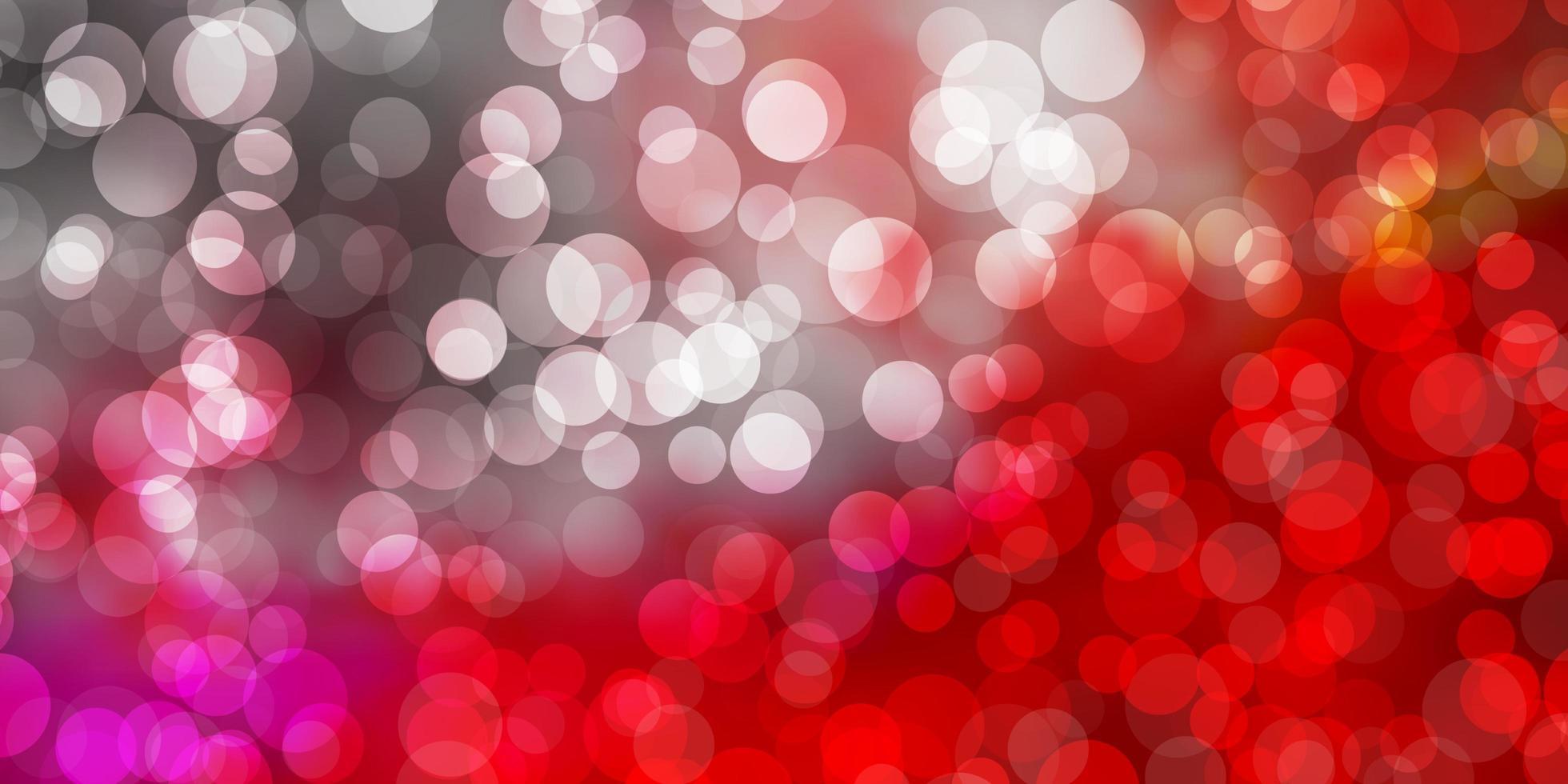 pano de fundo vector vermelho claro com pontos