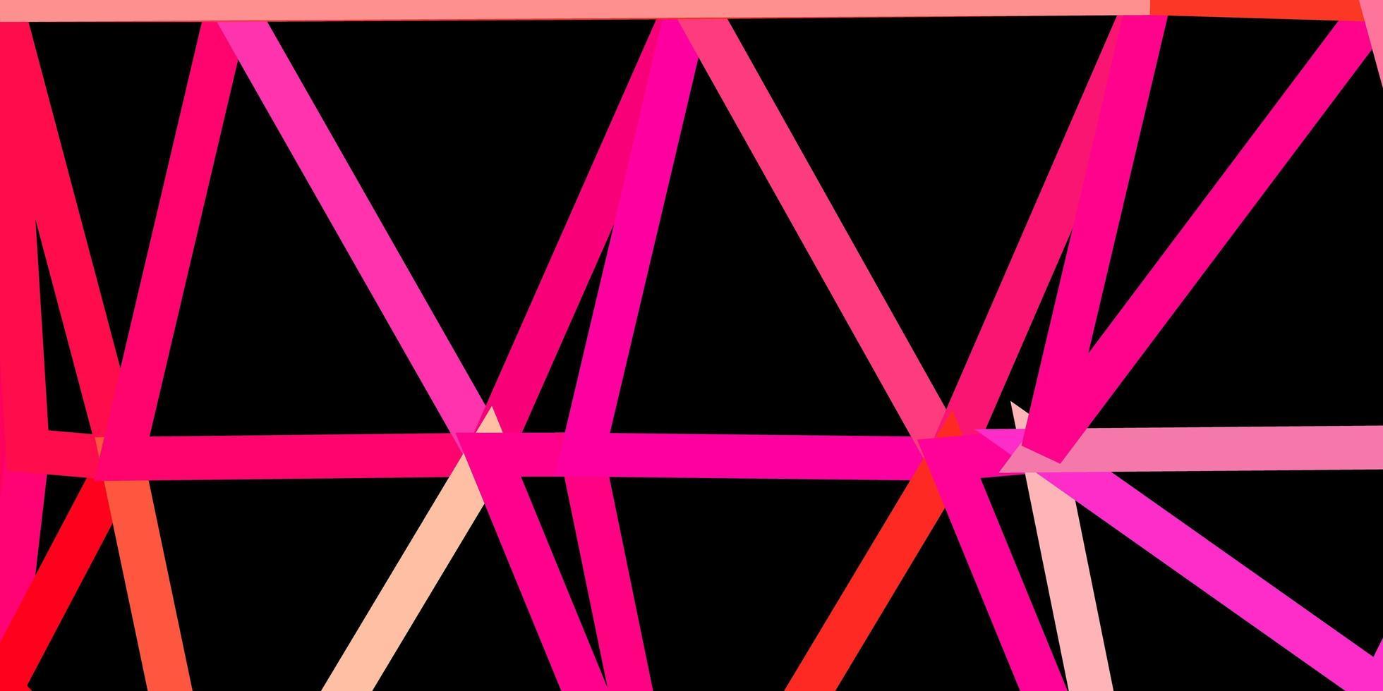pano de fundo do triângulo abstrato do vetor rosa claro.