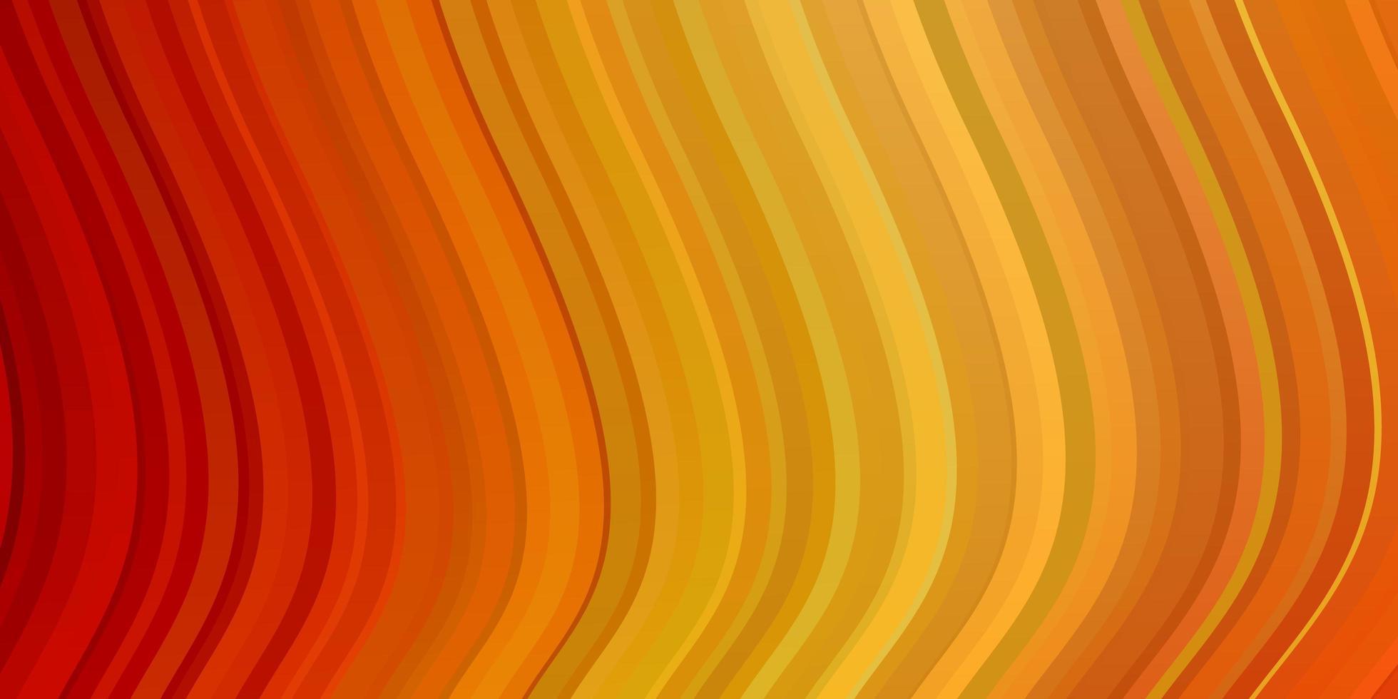 layout de vetor vermelho e amarelo claro com arco circular.