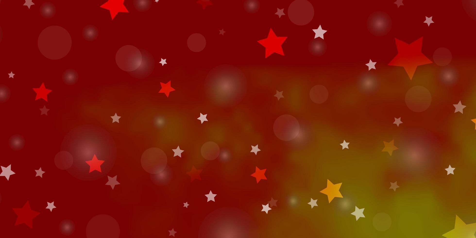 fundo vector vermelho, amarelo claro com círculos, estrelas.
